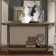 Armen Living Barstow Pine Top Console Table   from hayneedle.com