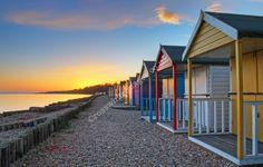 Beach Huts Sunset