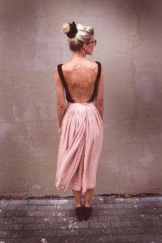 open back ballerina dress