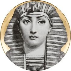 "Fornasetti ""Egyptian Headdress"" Plate at Barneys.com"