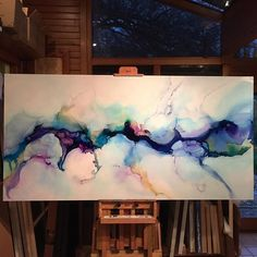 """Rain Song 40x80in all up in the nooks and crannies of this one today! Happy New…"