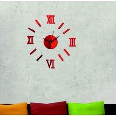 Moderné nalepovacie hodiny eliška rímske červené .