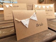 Rustic Wedding Place Card / Escort Cards by FromLeoniWithLove