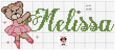 Cross Stitch Baby, Baby Names, Kids Rugs, Fictional Characters, Maria Clara, Ballet, Cross Stitch House, Cross Stitch Love, Cross Stitch For Baby