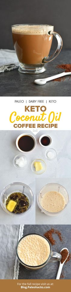 Upgrade your morning routine with a cup of bulletproof-style keto coconut oil coffee. Get the full recipe here: https://paleo.co/ketocoffee