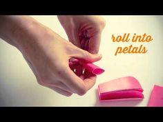 Le Frufrù: Fiori di carta! Idea per un centrotavola fai da te