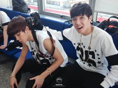 Jimin & J-Hope at Inkigayo, backstage vote for BTS for mama http://mama.interest.me/poll
