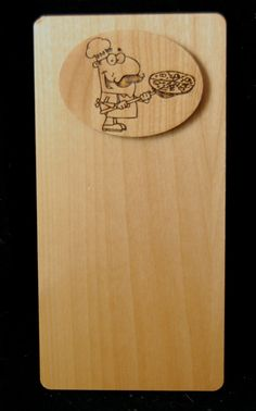 Personalized wood Ornaments and more! Check Presenter, Wood Invitation, Custom Rubber Stamps, Pizza Restaurant, Custom Checks, Wood Ornaments, Presents, Unique, Pizza House