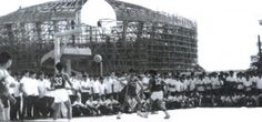 La Salle Green Hills, with the St. Benilde Gym under construction, circa The St, Pinoy, Under Construction, Manila, Old Photos, Philippines, Past, Gym, History