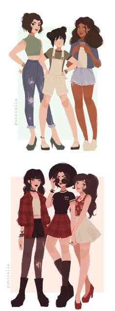 By Punziella on Tumblr Mai, Azula, and Ty Lee are recognizable anywhere. The good girls a little less so.