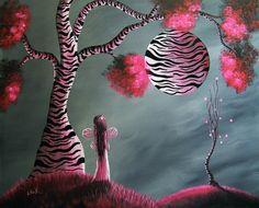 Magical World Of Fairies by Shawna Erback Painting  - Magical World Of Fairies by Shawna Erback Fine Art Print