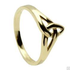 """""""Handmade Gold Celtic Trinity Knot Ring"""", $378.52, http://www.ukcelticjewellery.co.uk/. #gold #ring #forher"""