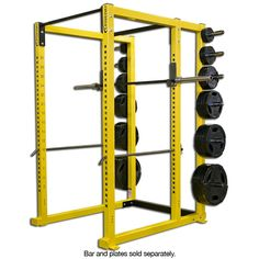 Lower Plyo Band Pegs, Upper Plyo Band Pegs, and Beefy Spotter Arms are optional extras.  Bench, Weights and Bars NOT Included