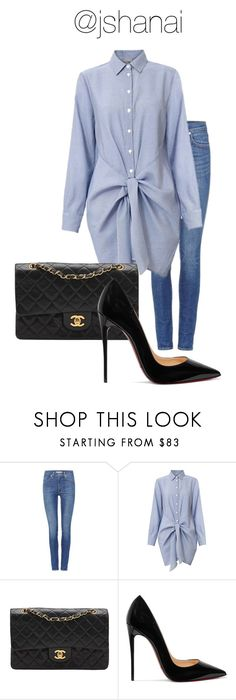 """Untitled #91"" by jshanai ❤ liked on Polyvore featuring Levi's, Chanel and Christian Louboutin"