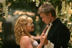 "HILARY DUFF AND CHAD MICHAEL MURRAY As Sam Montgomery and Austin Ames in ""A Cinderella Story"" (2004)"