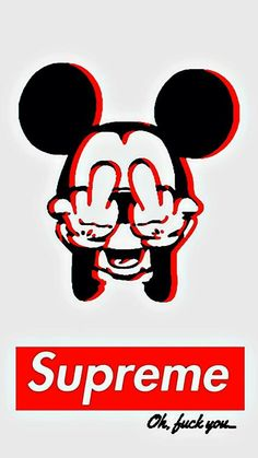 Supreme Micky Mouse #Fuck