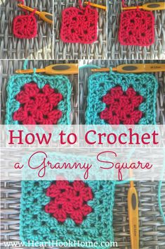 Crochet Granny Square Patterns So you're into grannies, huh? You're really diggin' their squares? Learn how to crochet your own Classic Granny Square. Granny Square Crochet Pattern, Crochet Squares, Crochet Stitches, Crochet Patterns, Granny Square Tutorial, Afghan Patterns, Amigurumi Patterns, Learn To Crochet, Diy Crochet