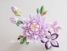 Diy Lace Ribbon Flowers, Cloth Flowers, Kanzashi Flowers, Ribbon Art, Diy Ribbon, Ribbon Crafts, Flower Crafts, Fabric Flowers, Fabric Crafts