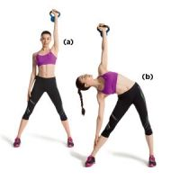 """15-Minute Workout: Core Exercises """"This core workout routine targets your entire core with functional, up-off-the-floor moves. You'll also tone your arms, chest, shoulders, back, and legs."""" For neck problems do w/out weights"""