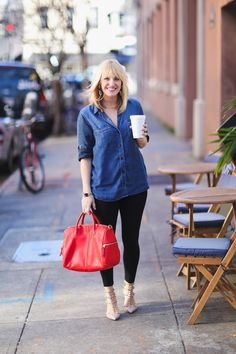 @Chassity Evans wearing our #Fossil Erin Satchel in Real Red. Now on sale $149.99 #fossilstyle