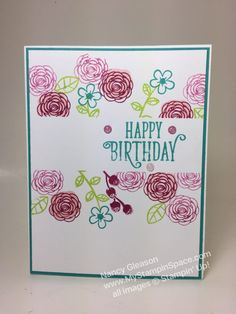 "Nancy Gleason My Stampin' Space ""Happy Birthday, Gorgeous"" stamp set"