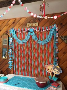 Red and Aqua Birthday Party Decorations- Daniel Tiger's Neighborhood