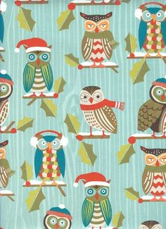 Holiday Owls Rolled Gift Wrap Paper Waste Not Paper http://www.amazon.com/dp/B009FLZ3SY/ref=cm_sw_r_pi_dp_q.Kxub17HZ4F1