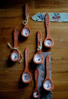 These lovely handmade spoons are a welcome addition to your morning tea.