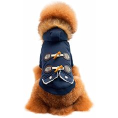 Dog Apparel,vmree Pet Dogs Cat Fur collar Ox horn Button Warm Thick Coat Sweater Clothes ** You can get additional details at the image link. (This is an affiliate link) #DogApparelAccessories