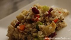 Cranberry/apple, brown rice stuffing.  Had this for Christmas and it is delicious!