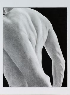 *Shoulders & Back* a study in graphite and black ink by me; 7 x 9.5 inches.