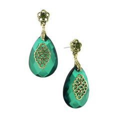 You're reviewing: Dionysis Floral Multifaceted Emerald Drop Earrings ($18) ❤ liked on Polyvore featuring jewelry, earrings, accessories, women, 1928 earrings, emerald dangle earrings, floral drop earrings, vintage style earrings and dangle earrings