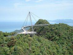 Jembatan Gantung Pulau Langkawi di Malaysia