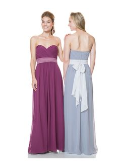 High quality 2015 Zipper Up Sweetheart Sash Chiffon Sleeveless Bridesmaid / Prom Dresses By bari jay 1522 from Formalgirldresses.com Online Shop!