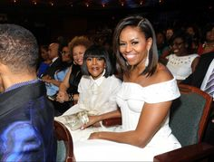 Debra Lee, Cicely Tyson, and First Lady Michelle Obama