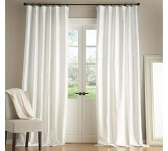 Pottery Barn white curtains - love these for everywhere