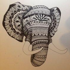 Hamsa Hand Drawing Tumblr #mandala #hamsa hand #elephant