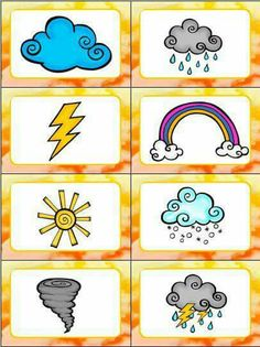 "Weather Slap It! Card Game This Weather Slap-it Card Game is great for teaching kids weather words! Slap It! is based on the traditional card game ""Slap Jack"" and the kids LOVE slapping all the words and pictures as they learn about the weather! Weather For Kids, Weather Activities For Kids, Teaching Weather, Preschool Weather, Preschool Science, Science Activities, Teaching Kids, Preschool Kindergarten, Weather Crafts"