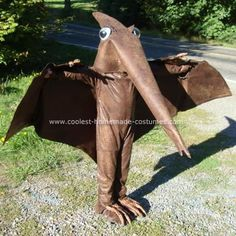 Homemade Pteranadon Dinosaur Costume