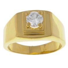 Simon Frank 14k Gold Overlay Men's CZ Ring (size )