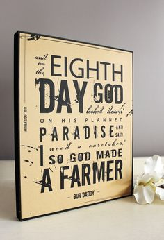 So God Made A Farmer – A Perfect Father's Day Gift for T's Dad