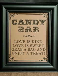 INSTANT DOWNLOAD 8 x 10 Candy Bar Wedding by freshlovecreat | Postris