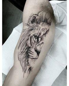 Art on the Skin by Feliphe Veiga Feliphe Veiga Creations, Scheduling, and Budgets: 📩 contato @ trueriset . Tattoos 3d, Lion Head Tattoos, Paar Tattoos, Mini Tattoos, Forearm Tattoos, Animal Tattoos, Body Art Tattoos, Small Tattoos, Tattoo Art