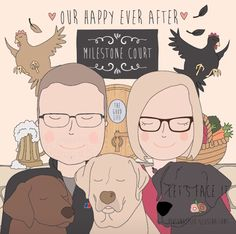 Our happy ever after xxx Ever After, Life Is Good, Let It Be, Comics, Face, Happy, Illustration, Design, The Vow