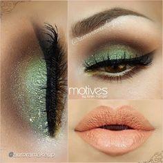 pistachio eye makeup