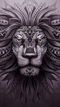 Tribal Lion Tattoo, African Tribal Tattoos, Lion Head Tattoos, Lion Tattoo Design, Leo Tattoos, Animal Tattoos, Body Art Tattoos, Tattoos For Guys, Tattoo Designs