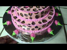 cheetah print jello cake