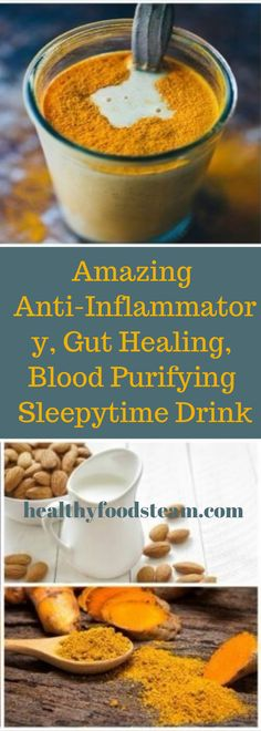 Amazing Anti-Inflammatory, Gut Healing, Blood Purifying Sleepytime Drink – All Healthy Secret Smoothie Cleanse, Detox Smoothies, Healthy Drinks, Healthy Recipes, Healthy Foods, Anti Inflammatory Recipes, Holistic Medicine, Fitness Diet, Natural