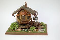 Walnuts and Fantasy - Made from Walnuts - Woodland Cottage- Nell Corkin - Miniature Miniatures