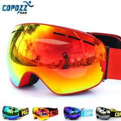 Nuovo COPOZZ marca occhiali da sci doppi strati UV400 anti-fog grande maschera da sci occhiali da sci uomo donna snowboard occhiali GOG-201